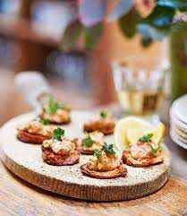 dining canapes recipes crab toasts delicious magazine