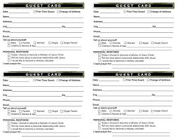 Wedding Bulletin Templates Guest Card Template