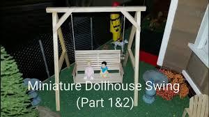 miniature dollhouse swing youtube