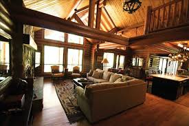 newer luxury solid log cabin on secluded vrbo