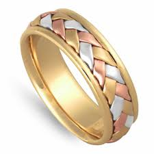 wedding ring depot 14k tri color gold basket braid band 7mm 3008657 shop at