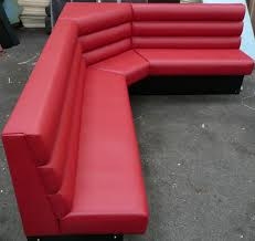 awesome red leather corner bench seating design for corner bench