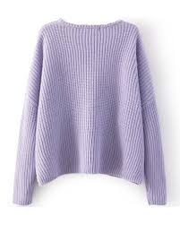 purple sweater light purple cable knitted cropped sweater with