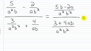 algebra i help rational expressions complex fractions method i
