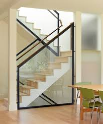 Stairs With Open Risers by Stair Railing Ideas Staircase Contemporary With Knotty Pine Metal