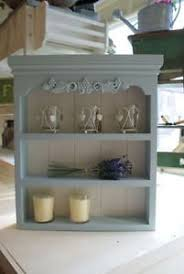 once a plain wooden spice rack new coat of chalk paint and now