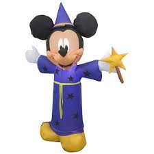 4 airblown inflatables disney mickey mouse wizard walmart