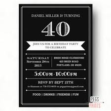 40th birthday invitations for him 40th birthday invitations for