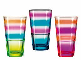 Esszimmerst Le Reduziert Trinkglas Event Neon Rainbow Dh 8x13 Cm In Bunt Glas Von
