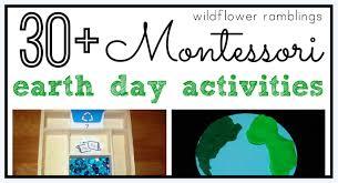 montessori earth day activities wildflower ramblings