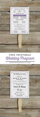 wedding programs rustic free printable wedding program mountainmodernlife