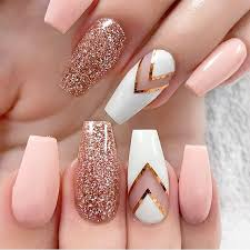 baby pink rose gold glitter nails http hubz info 58 cute nail