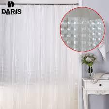 Bathroom Plastic Curtains Sdarisb Plastic Peva 3d Waterproof Shower Curtain Transparent
