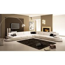 large sectional sofas cheap 954 contemporary white italian leather sectional sofa intended for