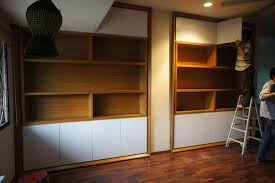 fukusu onsite installation of study room wall cabinet in bukit