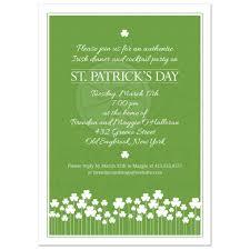 patricks day party invitation shamrock garden
