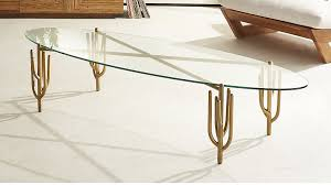 Brass Coffee Table Cacti Brass Coffee Table In Coffee Tables Reviews Cb2