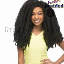 crochet marley hair 18inch afro twist hair bulks synthetic braiding hair crochet
