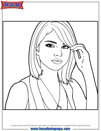 free printable selena gomez coloring pages h u0026 m coloring pages