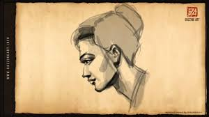 how to draw a female face side pose 01 youtube