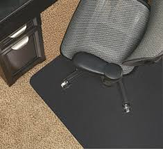 realspace black vinyl chair mat for low pile carpets studded 36 w