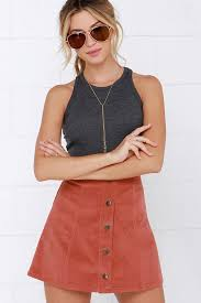 corduroy skirts rust skirt a line skirt corduroy skirt mini skirt 44 00
