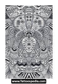 amazing aztec sun god design tattoos book 65 000 tattoos