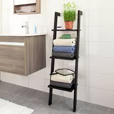 Bathroom Ladder Shelves Bathroom Ladder Shelves Bathroom Wood Leaning Ladder Shelf For