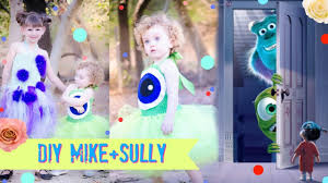 diy monsters inc mike and sully costume youtube