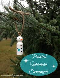 painted snowman ornament tutorial the vintage