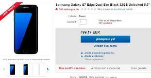 ebay black friday el samsung galaxy s7 edge con descuento en el black friday de ebay