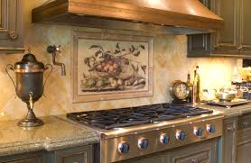kitchen mural backsplash beautiful backsplash murals make your kitchen look glass subway