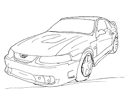 free printable mustang coloring pages kids