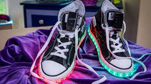 shoes that light up on the bottom nike home family diy light up shoes youtube