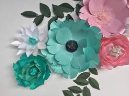turquoise flowers turquoise wall decor paper flowers wall decor baby girl nursery