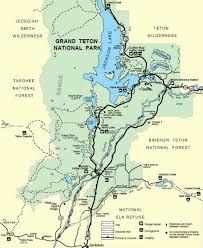 grand map grand teton national park trail map