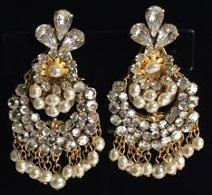 Costume Chandelier Earrings Dazzling Vintage Miriam Haskell Chandelier Earrings Baroque Pearls