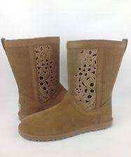 womens ugg lo pro boots ugg australia suede floral s mid calf boots ebay