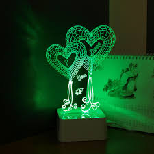 aliexpress com buy heart 3d night lamp wedding night lighting