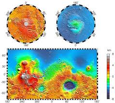 Topographic Map Of Usa by Large Detailed Topographic Map Of Mars Mars Large Detailed