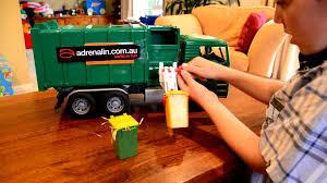 bruder garbage truck zach bruder side loader review youtube