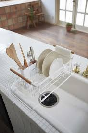Dish Drainers Tosca Over The Sink Dish Drainer Rack In White Design By Yamazaki