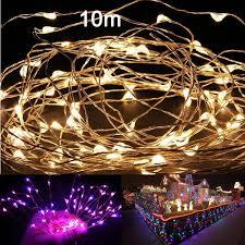 10m 33ft 100 led lights copper wire string light luces