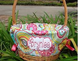 personalized easter basket liners 34 best easter basket liners images on aqua angles