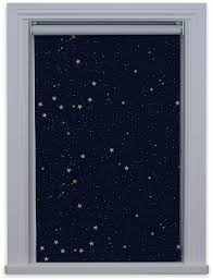Thermal Lined Roman Blinds Made To Measure Stars Navy Night Sky Blackout Thermal Roller