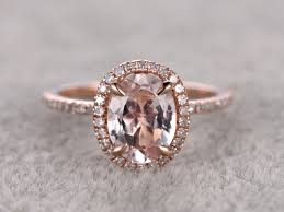 morganite engagement ring gold 1 2 carat oval morganite engagement ring promise ring 14k