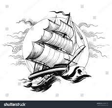 old ship stormy sea stock illustration 626486147 shutterstock