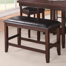 Bench Seat Height - crown mark fulton counter height bench with faux leather