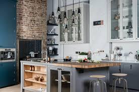 cuisines style industriel idee de cuisine avec ilot central 4 cuisine style industriel