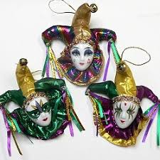 wholesale mardi gras mardi gras jester magnets ceramic faces with shiny lame